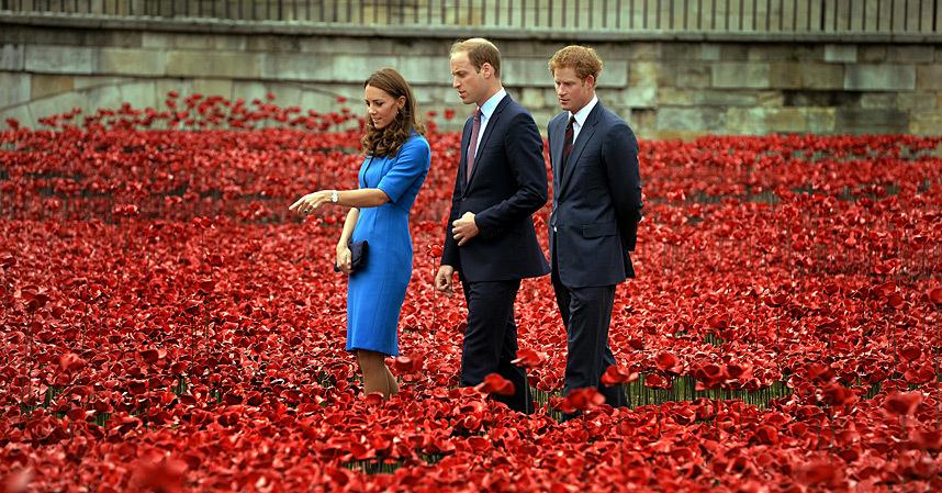 The Duchess of Cambridge, Prince William, Duke of Cambridge and Prince Harry