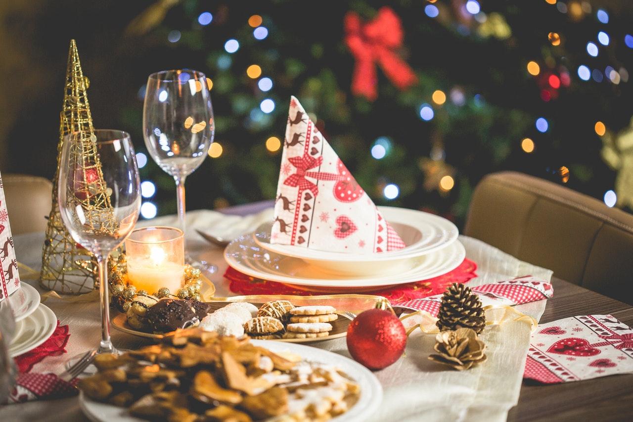 Eat at festive restaurant